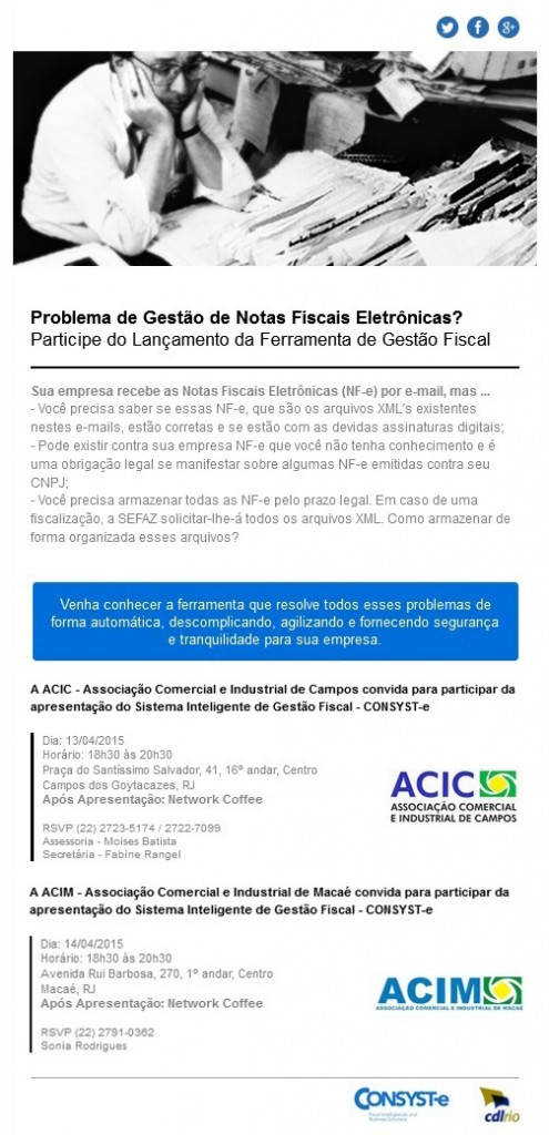 Convites ACIC e ACIM Consyste