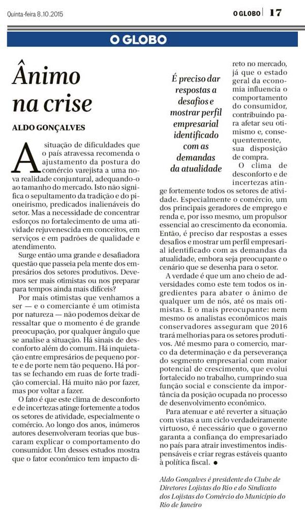 O Globo 8-10-15